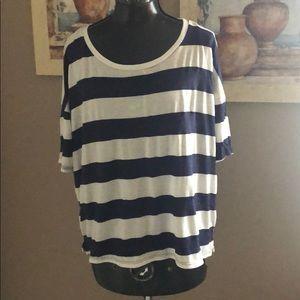 Forever 21 T Shirt Blue/White Sparkles Size Large